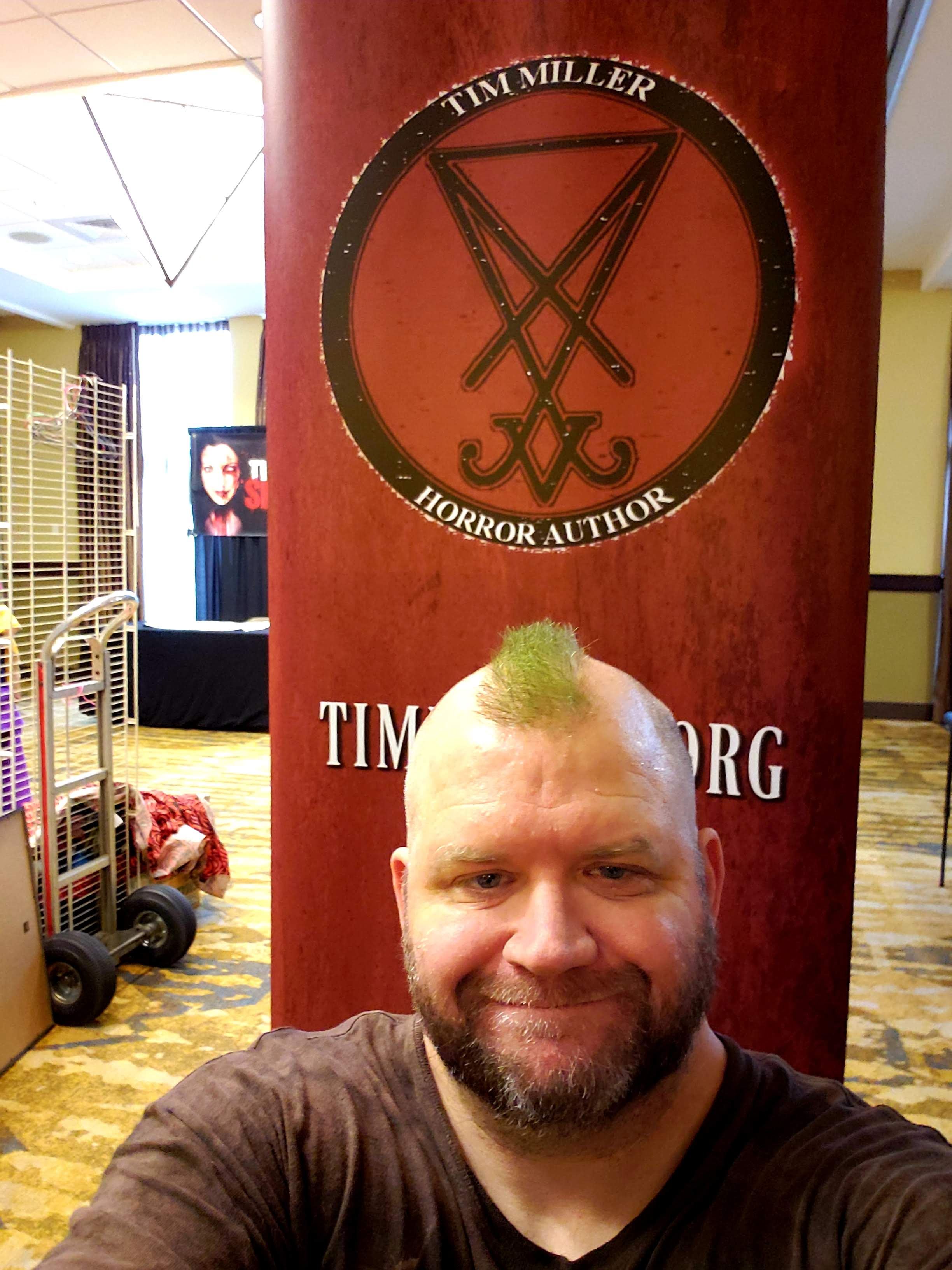 Independent horror author, Tim Miller.