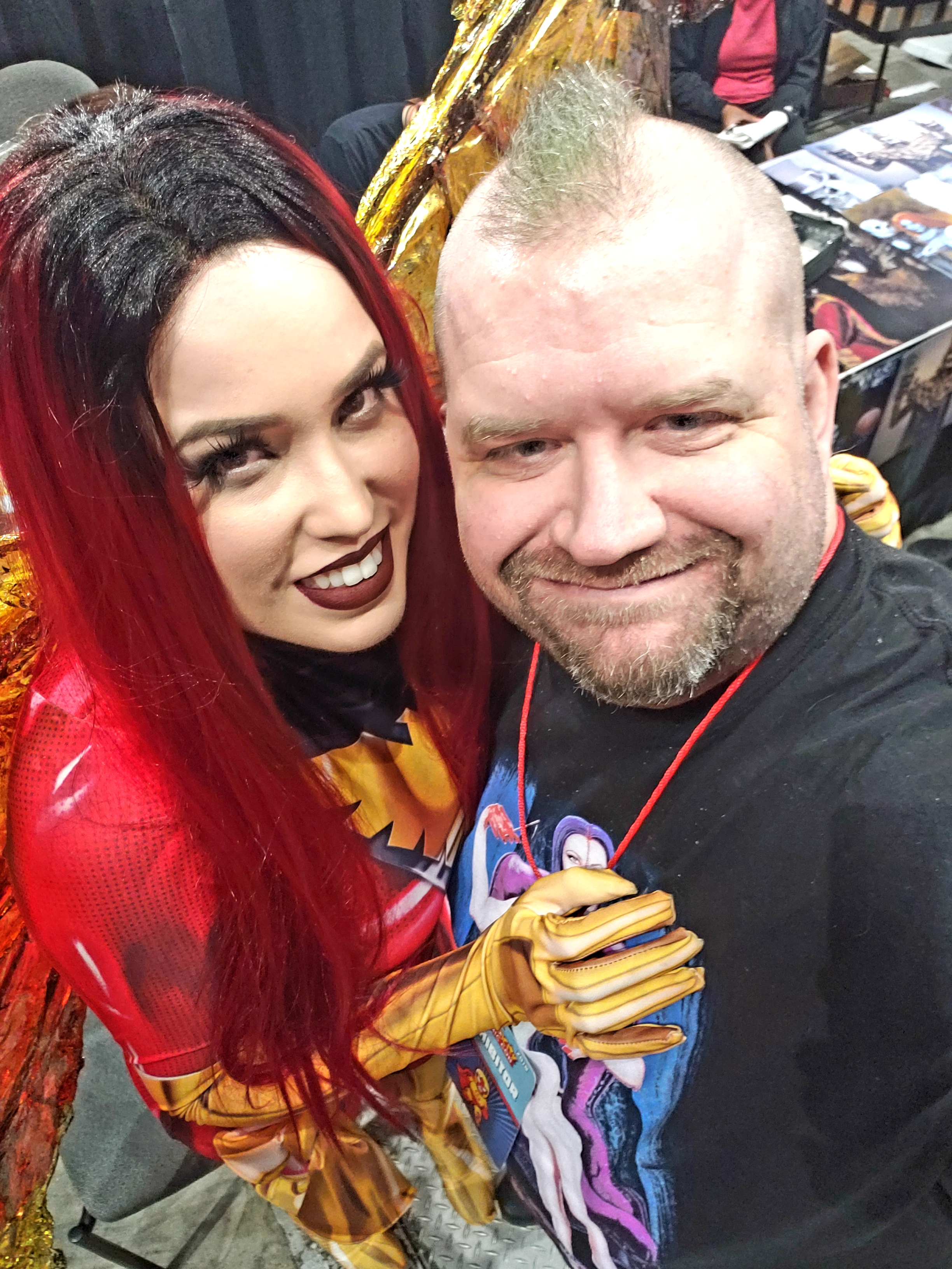 Tim with cosplayer, Dominique Skye, who is also one of his cover models.