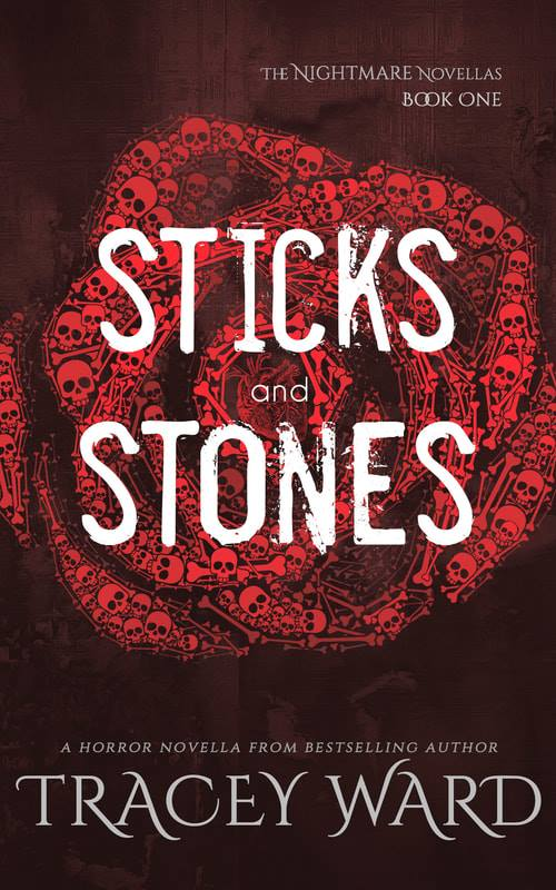 'Sticks and Stones' book cover by Tracey Ward.