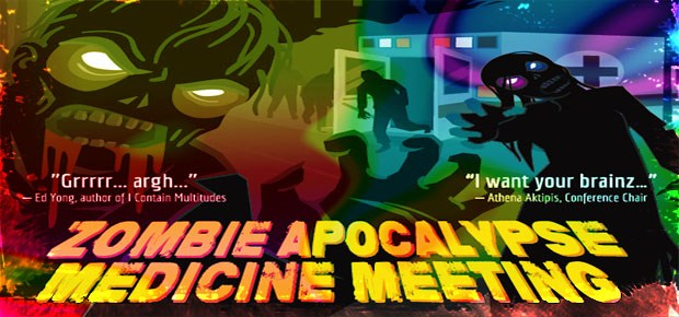 Promotional flyer for the Zombie Apocalypse Medicine Meeting, hosted that Arizona State University. Photo: zombieresearchsociety.com